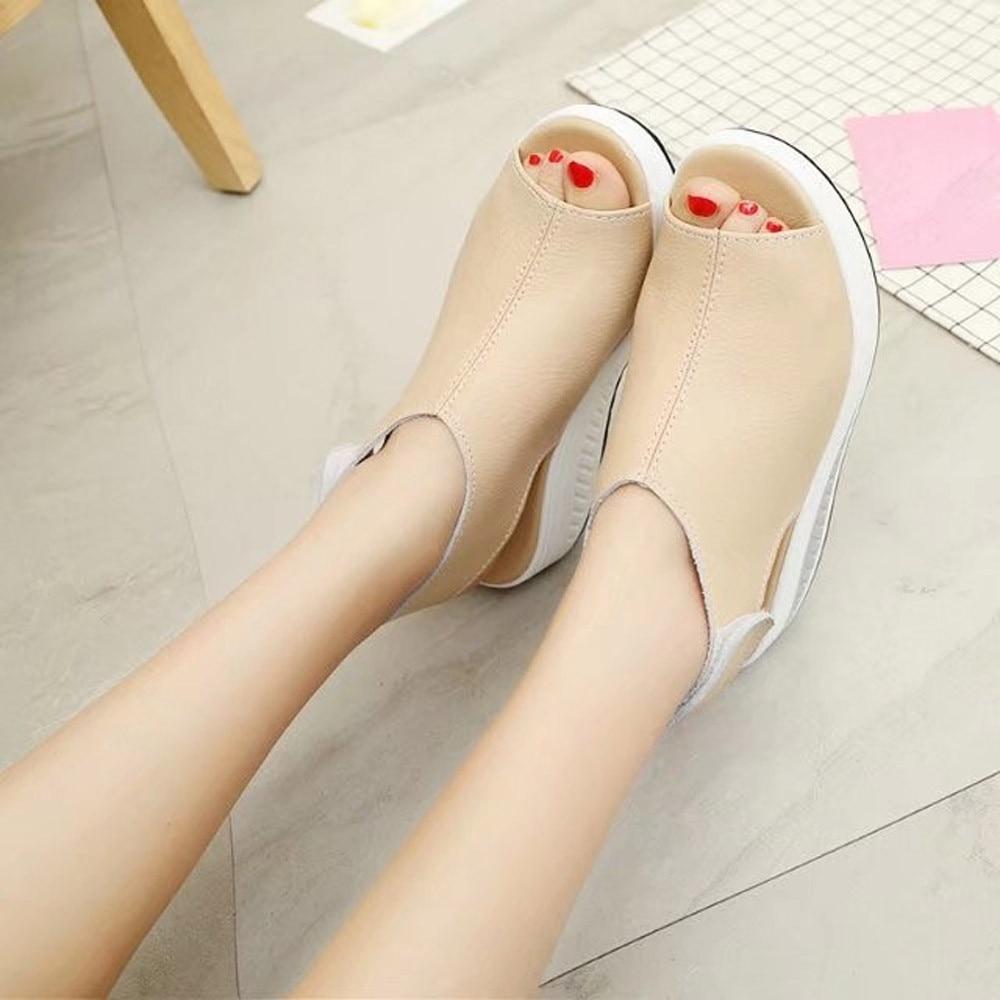 Femmes chaussures mode secouer d'été sandales fond épais talon haut sandali donna chaussures femmes t nouveau 2019 bayan sandalet