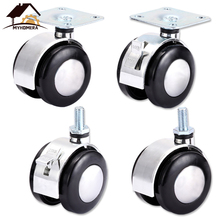 Myhomera Chair Wheel Alloy Furniture Caster 2inch Heavy Duty Swivel Castor Industrial Wheels Trolley Rubber Lock 360 Rotatable 4pcs a set of heavy duty 125x27mm rubber swivel castor wheels trolley caster brake 100kg replacement fixed caster for diy home
