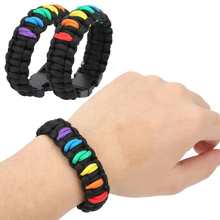 Paracord Bracelet Emergency Outdoor Camping 2pcs 7-Strand Knitting