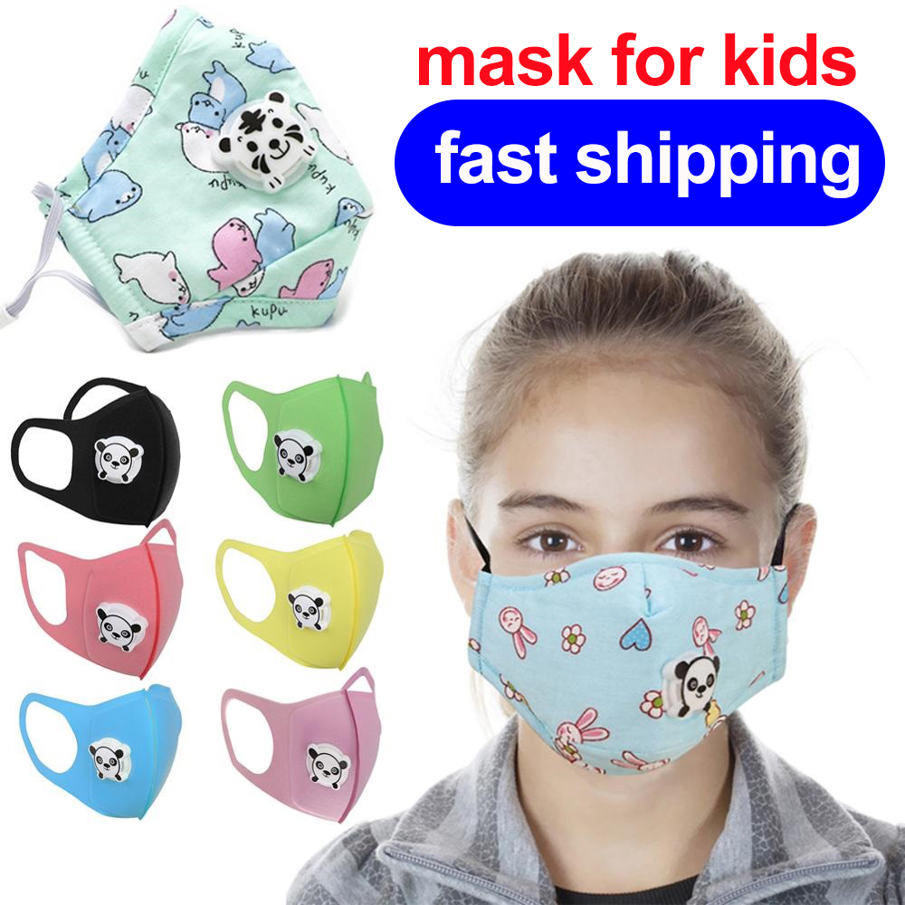 1pcs Kids Mask Washable Reusable Mouth Cover Dustproof Breathable Face Nose Filter Cover Cartoon Print Child Protective Mask