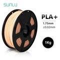 SUNLU 1.75 millimetri PLA + 3D Estrusore Filamento 1KG della pelle Con Bobina di Plastica PLA Più Il Filamento Per Stampante FDM 3D Penne Tolleranza di +/-0.02 millimetri