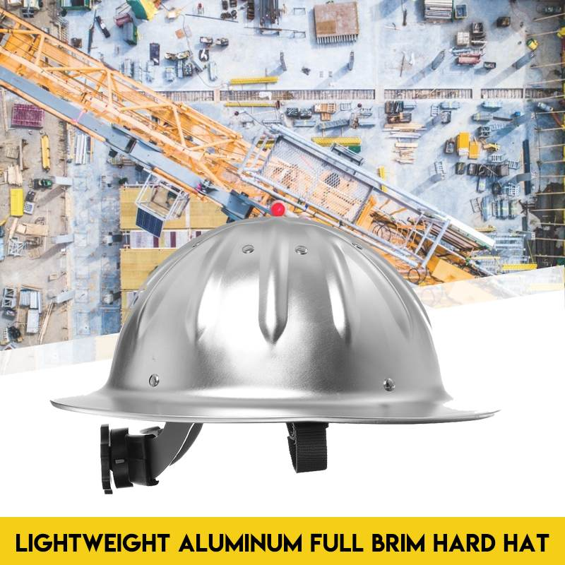 Lightweight High Strength Aluminum Full Brim Hard Hat Safety Helmet For Construction Railway Metallurgy Mine Shipbuilding