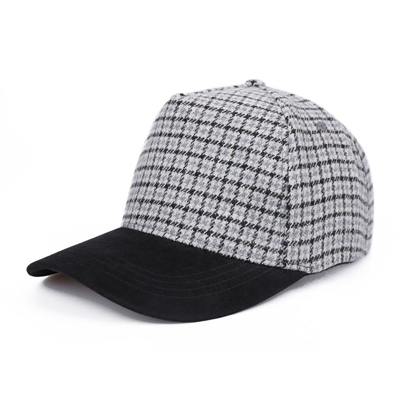 Sedancasesa модная бейсболка для женщин Snapback Кепка s солнцезащитные козырьки шляпы весна-осень для девочек грязная сетчатая Кепка клетчатый узор - Цвет: Gray