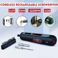 Mini Elektrische Cordless Magnetische Schraube Fahrer Werkzeug USB Aufladbare Li-Ion Batterie Genauigkeiten Hand Schraubendreher Bit Set
