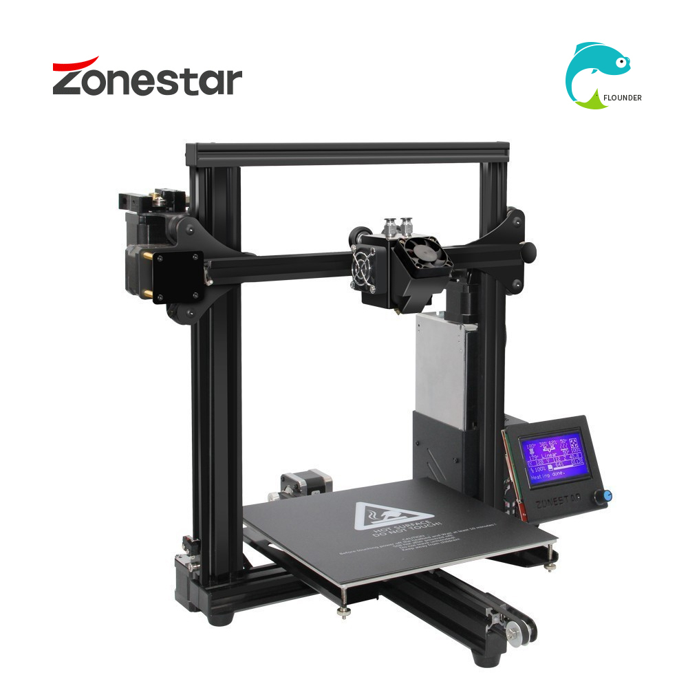ZONESTAR 3D Printer Classic with Dual Extruder and Auto Mix Color 4