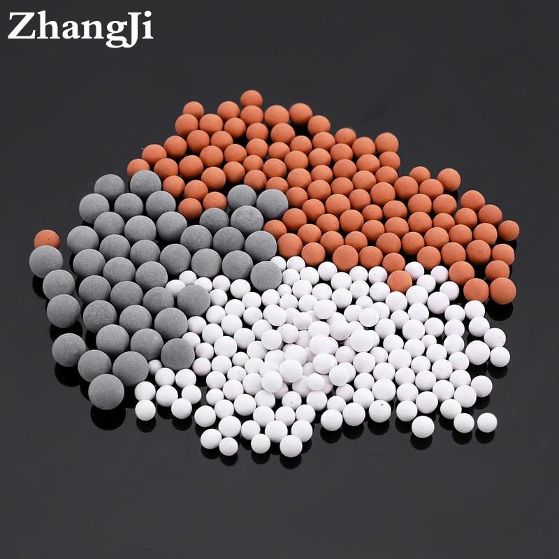 Pommeau de douche perles de rechange filtre énergie Anion minéralisé Ions négatifs boules en céramique Purification de l'eau accessoire de salle de bain