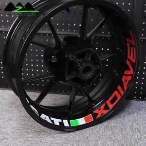 Image 5 - Ducati XDiavel 오토바이 방수 반사 스티커에 적용 가능 맞춤형 17 인치 휠