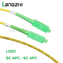 3mFiber Optic Patch Cable - Single Mode -SM G657A1-LSZH 3.0mm (1M, SC/APC to SC/APC)   sc apc patch cable   fiber splicer sommer cable sc goblin white