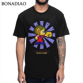 Camiseta Retro japonesa de 8 bits para hombre, remera Popular clásica de...