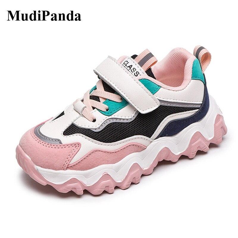 Кроссовки MudiPanda детские дышащие, спортивная обувь для бега, на весну, 4-12 лет, 2021