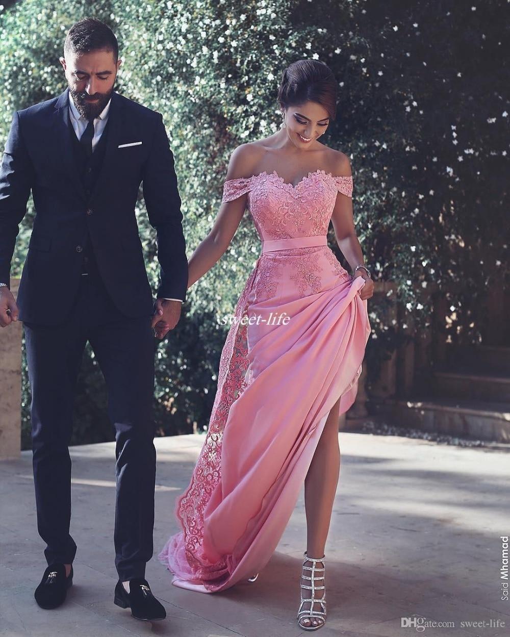 Long Lace Appliques vestido de festa longo Wedding Guest party gown Maid of Honor Cheap Sexy Off The Shoulder Bridesmaid Dresses