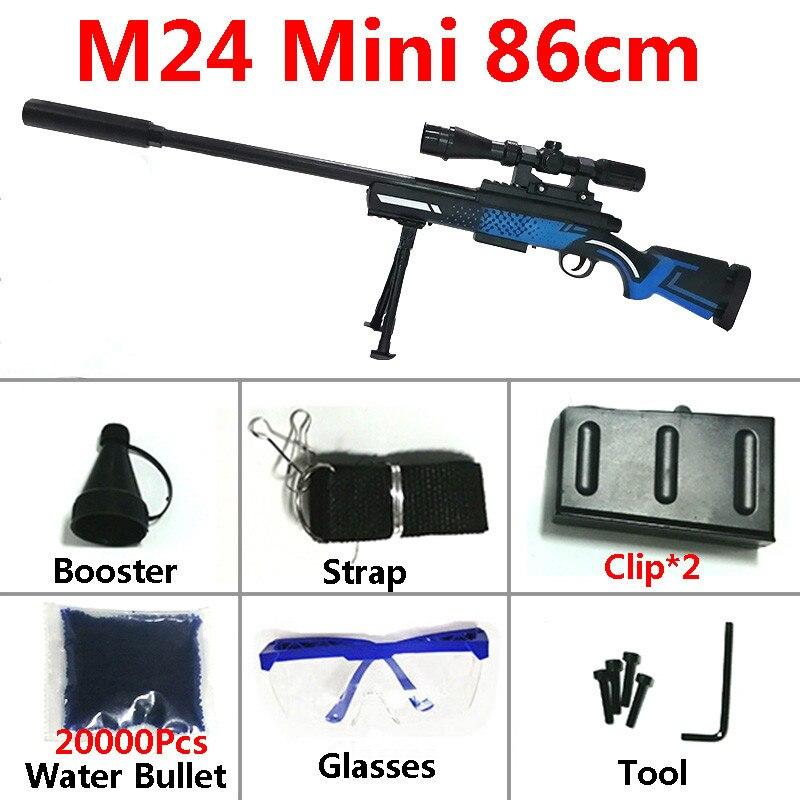 Pistolets Orbeez chargement manuel Sniper M24 mini pistolet à fusil jouet arme 86cm balle d'eau jeux de sécurité tir arme pistolet souple bras garçon