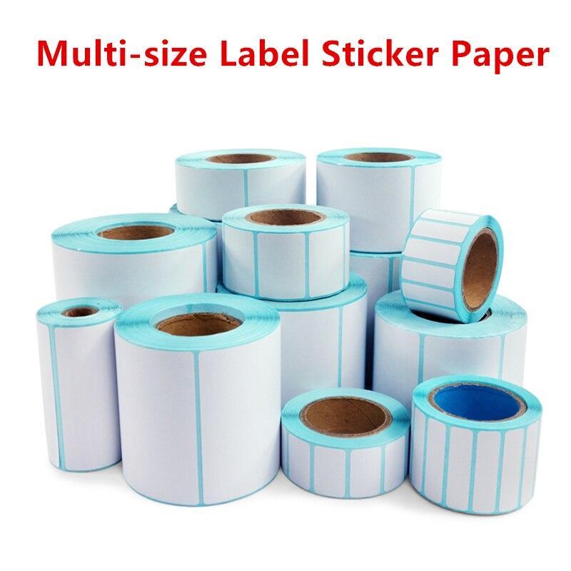 Термоэтикетка штрих код стикер бумага для принтера 1 рулон ширина 20 мм ~ 80 мм Верхний клей непрерывная термоэтикетка стикер Принтеры      АлиЭкспресс