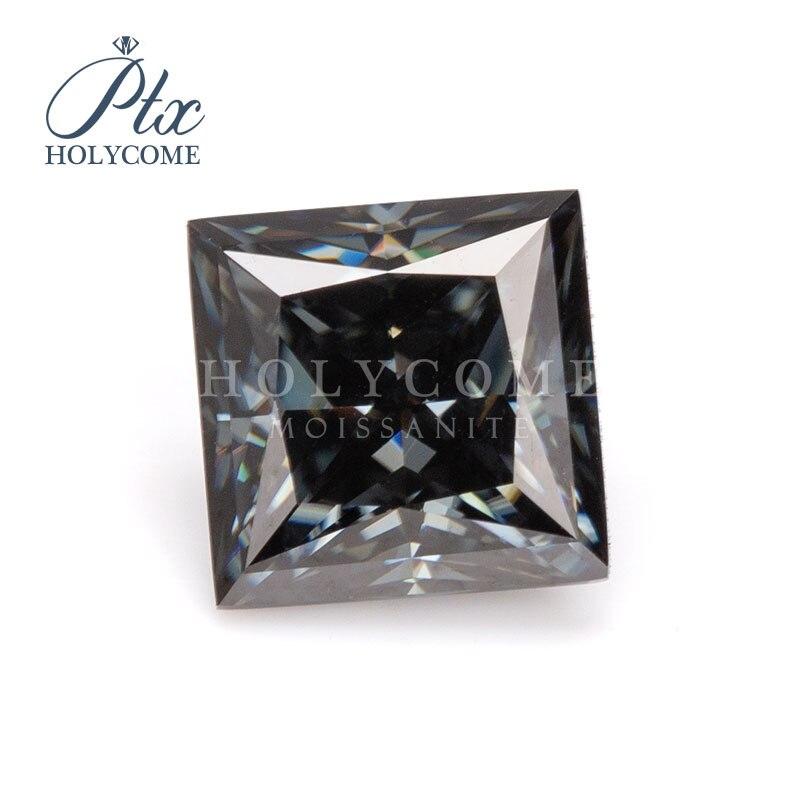 Dark gray color fashion stones 5.5x5.5mm princess cut loose moissanite diamond gemstones кольца браслеты ьги с зеленным камн