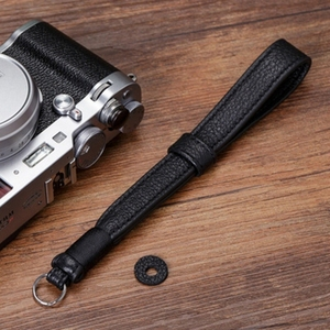 Image 3 - Original Handmade Doppel seite Verdicken Echtem Leder Kamera Handgelenk Strap Hand Armband für Sony Leica Canon Fuji Nikon Olympus