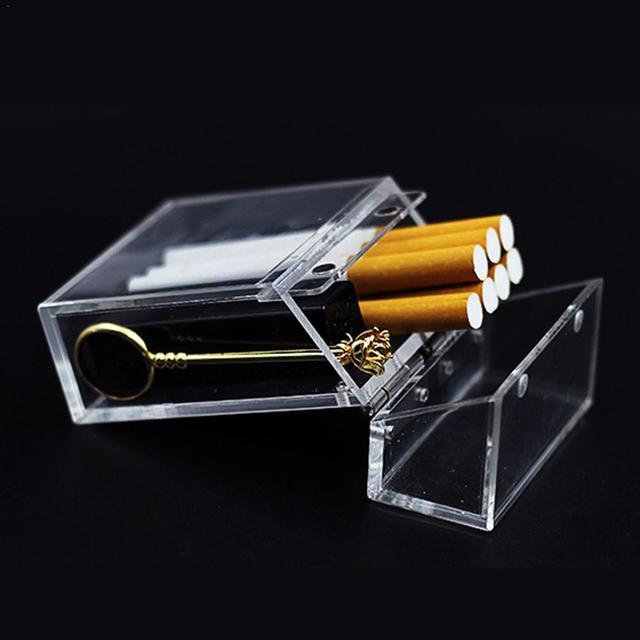 INS-étui à cigarettes Transparent 30E | Épais Portable, briquet, boîte de rangement, accessoires de tabac, joli cadeau pour hommes