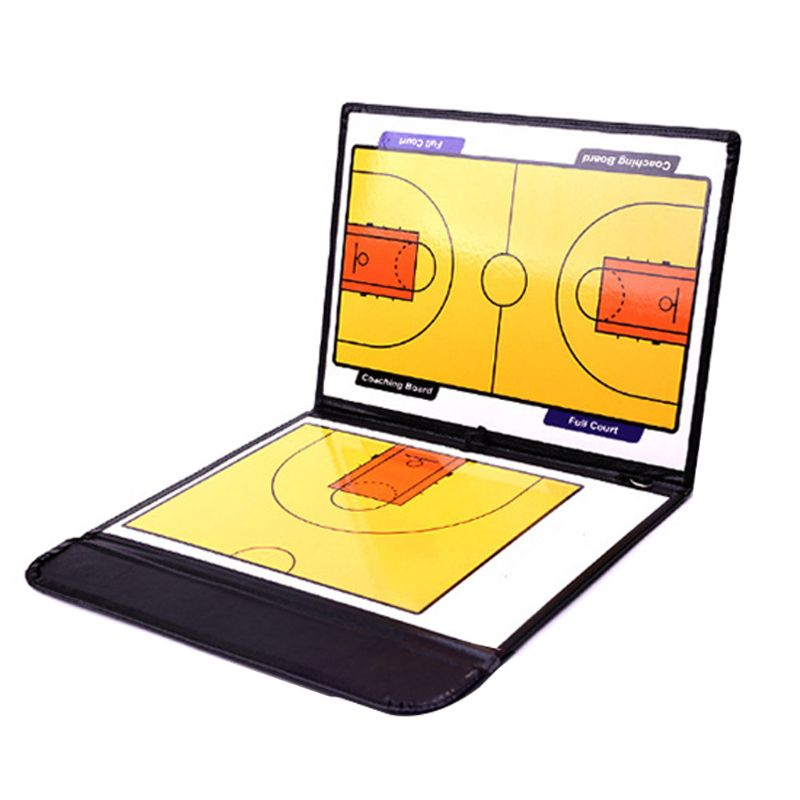 Foldable Basketball Coach Tactics Research Clipboard Magnetic Leather Board High Quality And Brand New