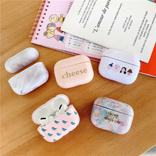 цена на Case for AirPods Pro Protective Cover Bluetooth Earphone Case Luxury Accessories for Airpods 3 Hard plastic rose girl Pattern