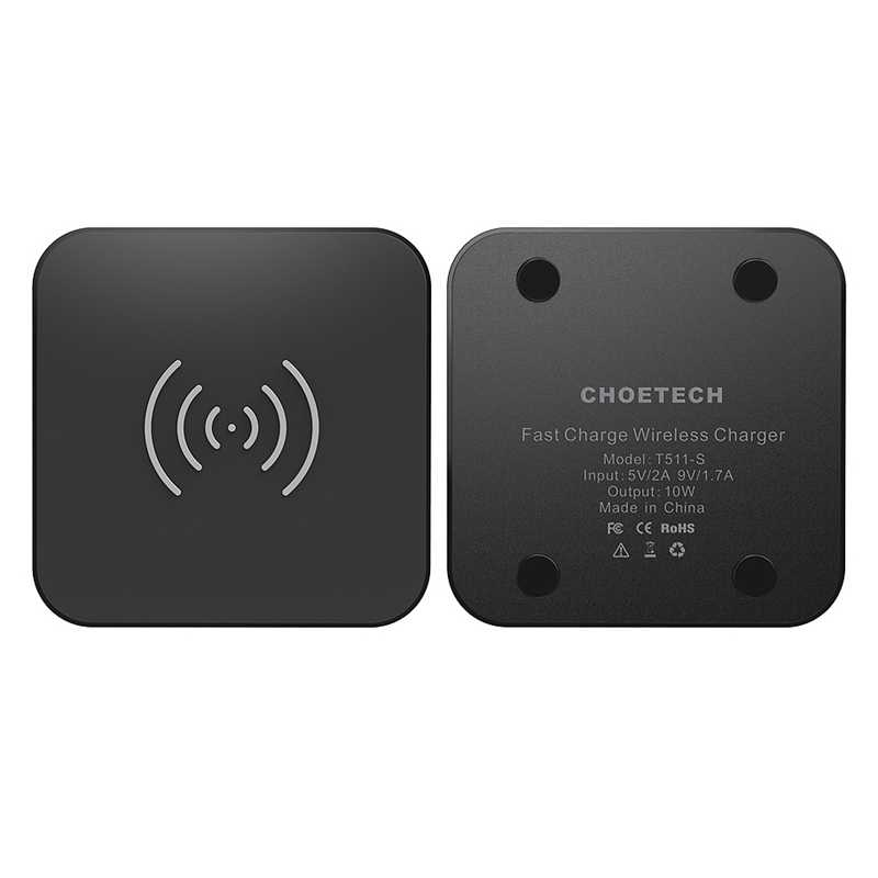 Choetech تشى اللاسلكية شاحن آيفون Xs ماكس Xr X 8 8Plus 10 واط سريع لوحة شحن لاسلكي لسامسونج غالاكسي S8 نوت 8 Wirles