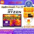 Globale Version Xiaomi RedmiBook Pro 15 Laptop AMD Ryzen R5-5600H/R7-5800H 16GB 512GB SSD 3,2 K Bildschirm win10 Pro Mi Notebook PC