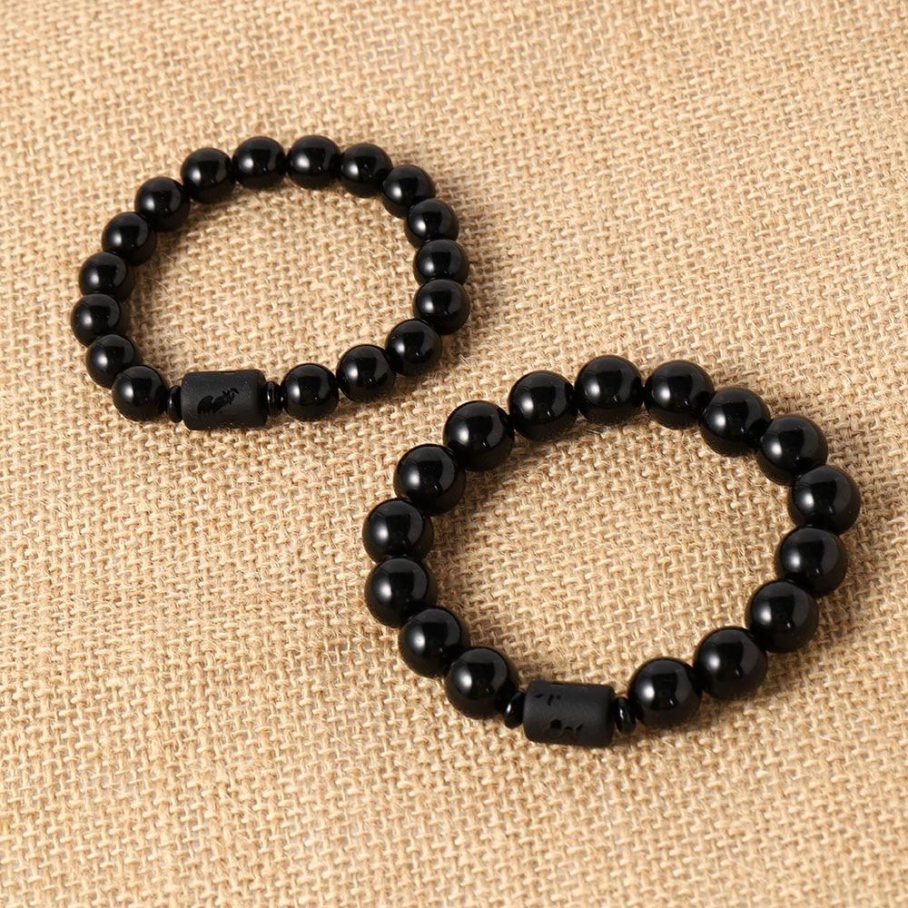 Classic Ethnic Style Frosted Dragon and Phoenix Couple Bracelet Mens Jewellery Bracelet Bracelets for Women
