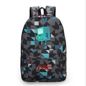 Image 5 - Adventure Time canvas backpack printing shoulder school bag travel bag knapsack Boy Girls packsack laptop bag