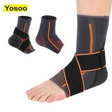 Wsparcie kostki rękaw kompresyjny oddychająca stopa elastyczna taśma zabezpieczająca opaska orteza stawu skokowego obsługuje dla kobiet mężczyzn