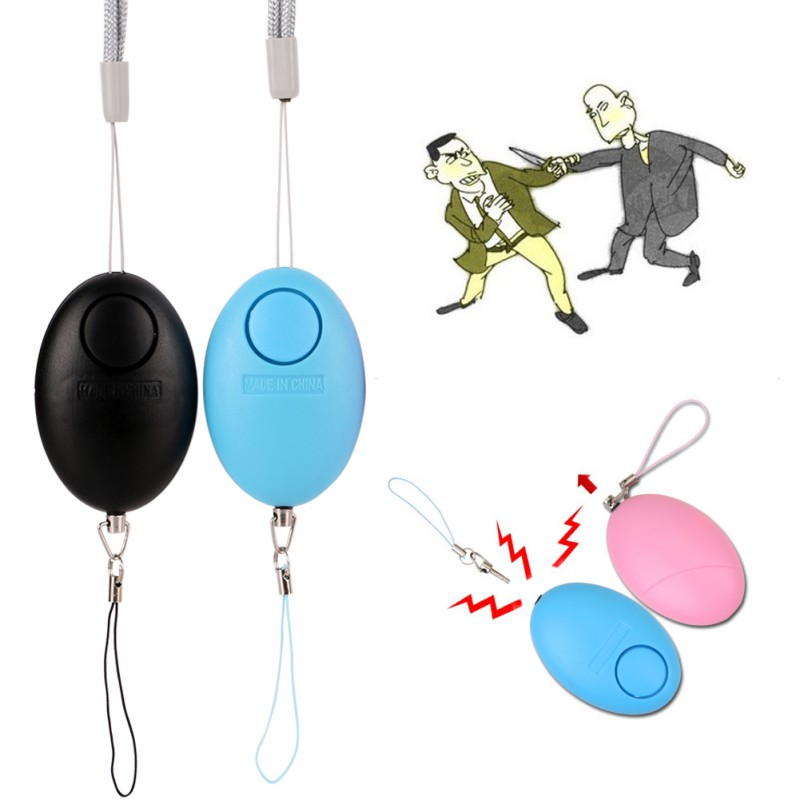 120 Decibels Egg Shape Cute Practical Anti-wolf Alarm Replaceable Battery Suitable For Elderly Women And Children