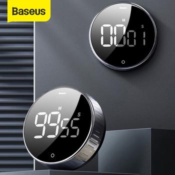Baseus LED magnetyczny stoper cyfrowy do gotowania w kuchni Alarm odliczający zegar elektroniczna do gotowania minutnik tanie i dobre opinie Cooking Countdown Timer Kitchen Timer Alarm Clock 148g Digital Timer china 4 5V(3*AAA Batteries not include) 0-50 degree