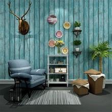 Papel de pared Vintage decoración del hogar fondos de pared de madera mediterránea vinilo 3d resistente al agua paneles de pared de contacto personalizados Papel Tapiz