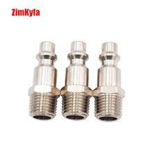 3Pcs 1/4 Npt Luchtslang Fittingen M Stijl Tool Lijn Compressor Bouw Plug