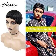 Pixie Cut Wig Short Wigs Brazilian Straight Human Hair Wigs for Black Women Full Machine Wigs Cheap Short Human Hair Wigs