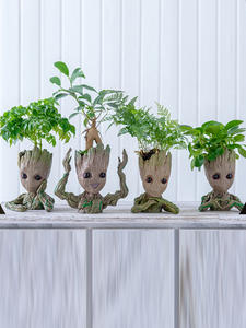 Ornaments Pen-Holder Miniature Model Groot Flower-Pot Tree-Figurines Desktop-Decoration
