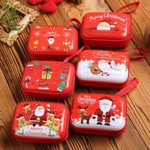 Портативный Рождественский Кошелек для монет, коробка для денег, Подарочный чехол на молнии для конфет, гарнитура, USB органайзер для хранения, Boite De Rangement