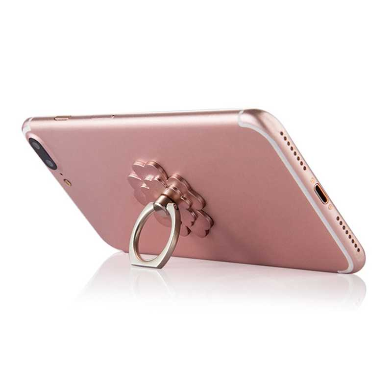 สนับสนุนโทรศัพท์ป้องกันโยน Brace ซ็อกเก็ตผู้ถือโทรศัพท์มือถือยืน 360 Rotatable โลหะแหวนผู้ถือ