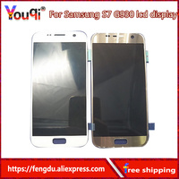 Oled For SAMSUNG GALAXY S7 G930A G930F G930F LCD Display Touch Screen Digitizer Assembly Replacement For SAMSUNG S7 LCD + tool