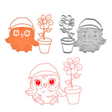 YaMinSanNiO Flower Dies Owl Animal Metal Cutting Dies for Card Making Scrapbooking Die Embossing Cuts Stencil Craft New 2019 цена