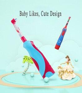 Image 5 - אוראלי B ילדי חשמלי מברשת שיניים אוראלי טיפול ילדים סוניק אלקטרוני מברשת שלבים סוללה כוח שן מברשת חשמלי