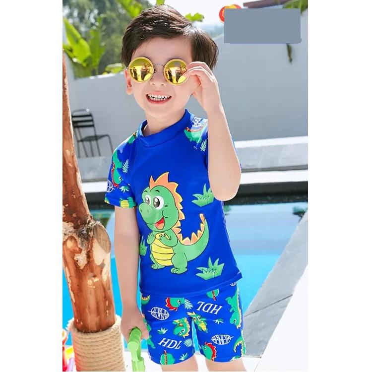 2019 New Style Swimming Trunks Funny Dinosaur Swimming Trunks BOY'S Boxer Shorts Cartoon CHILDREN'S Swimming Trunks Gift Swim Ca