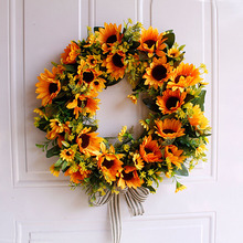 Artificial Flowers Wreaths Silk Wearth Door Wall Hanging Garland For Wedding Decoration Home Party wedding Decor