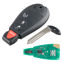 433MHz 4 Buttons Remote Car Key  Fob with Chip GQ4-53T Car Auto Replacement for Dodge 2013 - 2017 DODGE RAM 1500 2500 3500 takpart for 2009 2012 dodge ram 1500 2500 3500 quad