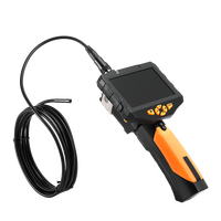 EYOYO NTS300 Dia 5.5mm 3M Snake Inspection Camera 4.3 LCD Monitor 720P Endoscope Borescope DVR Recorder 6 Leds 360 Degree Flip