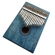17 ключ калимба красного дерева «пианино для больших пальцев» Mbira Природный Мини клавиатурный инструмент синий