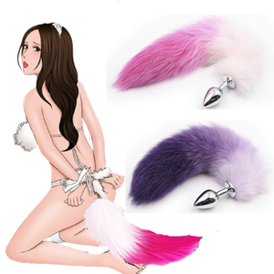 Anime Cosplay Costumes Fox Tails Anal Plug 3 Sizes Metal Butt Plug Faux Tail Sex Costumes for Cosplay Disguise Woman Role Play