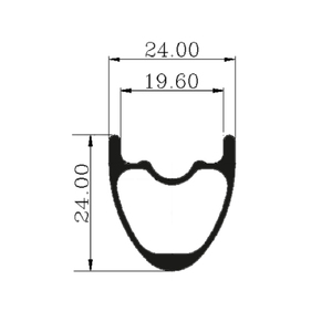Image 5 - 26er Mountain Bike Rim T700 Carbon Fiber Made hookless rims 24mm Depth 24mm Width tubeless For XC Condition bicycle MTB Wheels