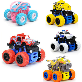 Kids Toys Car for Inertia SUV Friction Power Truck Inertia Dynamic Stunt Car 4WD Model Anti-skid Off-road Vehicle Boys Gift image