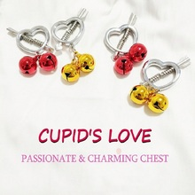 Erotic Accessories Love Cupid Nipple Clamps Sex Toy for Women Stainless Steel Breast Stimulator Ring Shield Body Piercing