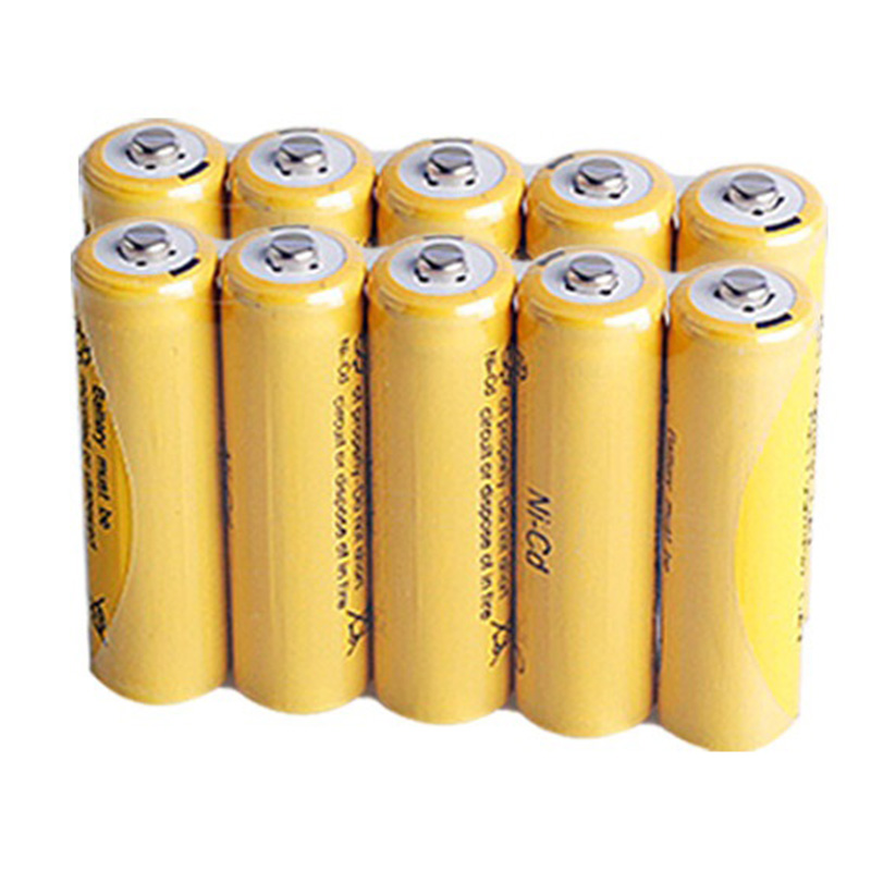 <font><b>AA</b></font> <font><b>700MAh</b></font> 1.2 V Quality Rechargeable <font><b>Battery</b></font> Ni-Cd <font><b>1.2V</b></font> Rechargeable 2A <font><b>Battery</b></font> Baterias Bateria <font><b>Batteries</b></font> 500 Times,10Pcs image
