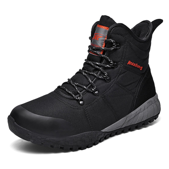 New Men Boots Winter Waterproof Warm Fur Snow Boots Men Winter Work Casual Shoes Outdoor Military Combat Ankle Boots black shoes designer men winter military boots male snow fur combat ankle boots waterproof army rain shoes chaussure homme