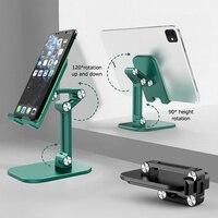 Soporte plegable de escritorio para teléfono móvil, mesa de Metal Flexible y ajustable para iPhone, iPad Pro y tableta
